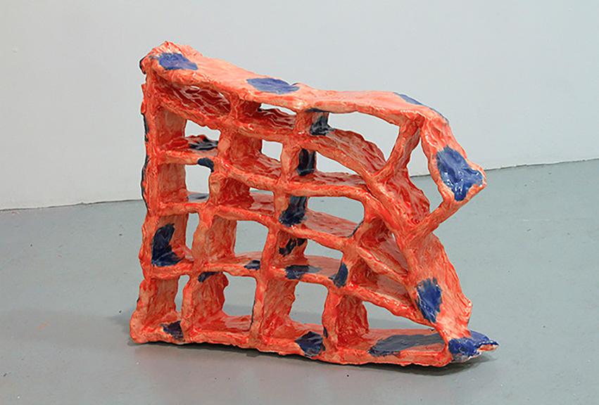 "Melting Grid, 2015; Ceramics, 16"" x 22"" x 4'"