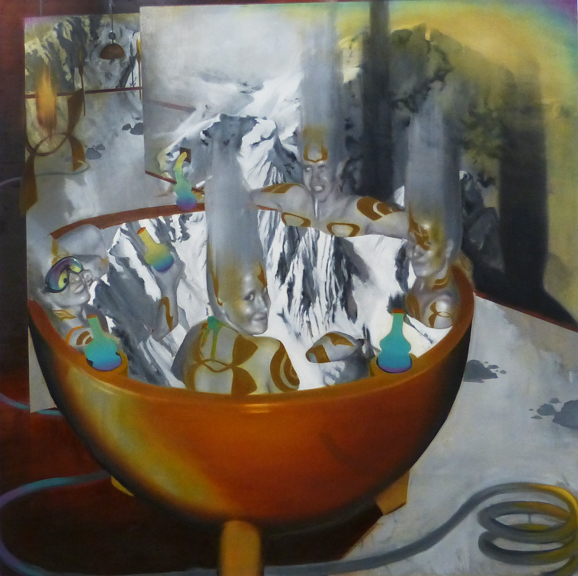 The Purgatory of Ansel Adams  2015, Oil Paint, 4'x4'