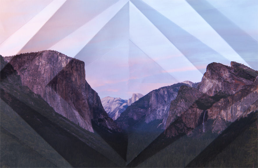 Mountains + Valleys (Yosemite National Park #1) 40 x 26 inches // 43 x 29 inches framed Archival Digital Print 2013