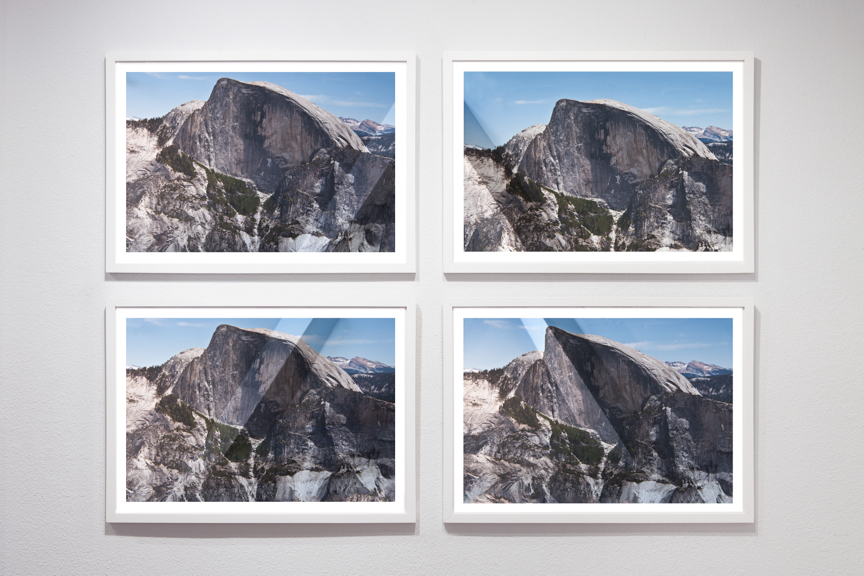Mountains + Valleys (Half Dome, Tetraptych) 16 x 23.75 inches each //18 x 25.75 inches each framed // 37 x 52.5 inches total dimension Archival Digital Prints 2013