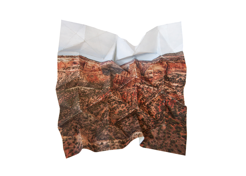 Mountains + Valleys (Colorado National Monument #1) 17.75 x 25.75 inches // 19.75 x 27.5 inches framed Archival Digital Print 2013