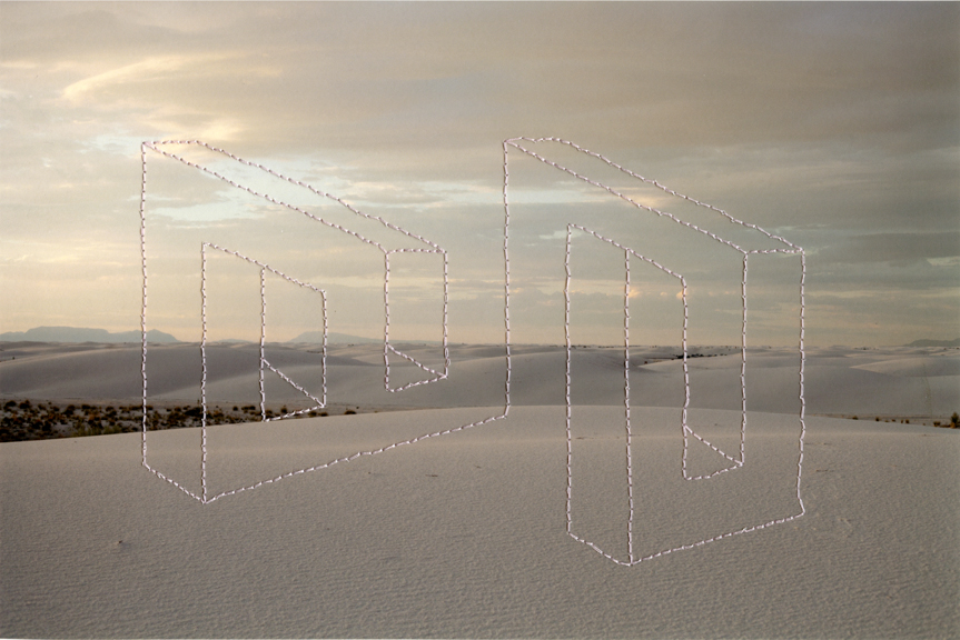 Impossible Objects (White Sands) 7.5 x 11 inches Archival Digital Print and Thread 2014