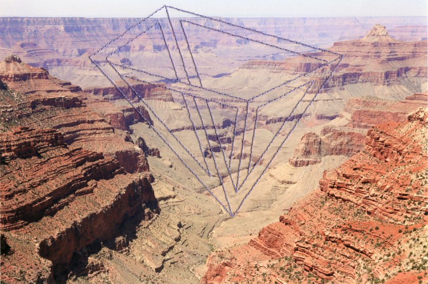 Impossible Objects (Grand Canyon) 7.5 x 11 inches Archival Digital Print and Thread 2014