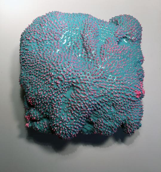 Purple  2015  12 x 12 x 8 (in)  Polyurethane foam, epoxy resin, acrylic on wood panel