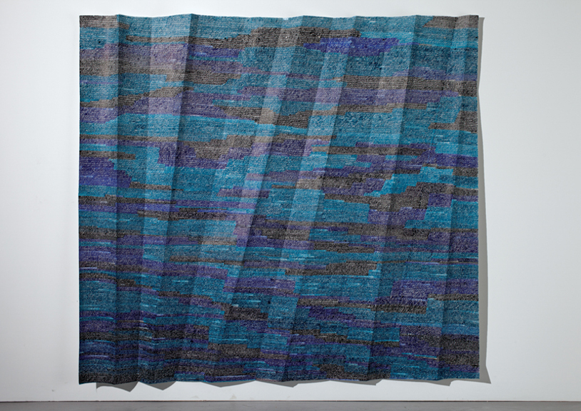 Dusty Lexicographer, 2013, acrylic paint on folded paper, 98 x 118 inches