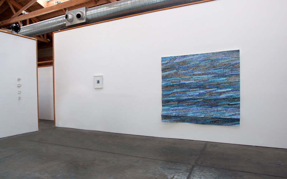 Lobelia, 2013,  acrylic paint on folded paper, 72 x 72 inches