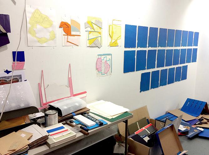 Ryan Sarah Murphy's studio in East Harlem