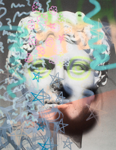 "GET A GRIP | SCREEN PRINT ON ARCHIVAL INKJET PRINT | 37.5""X29"" | 2015"