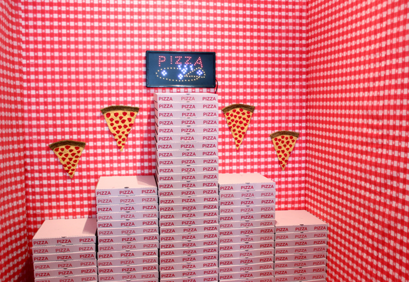 Cheesy Rituals, 2014, Installation and Performance at Little Paper Planes