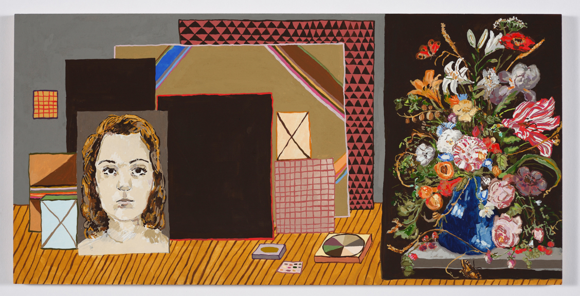 Picture of Pictures in an Interior,  2013, Gouache on Paper on Panel, 10 x 20 inches