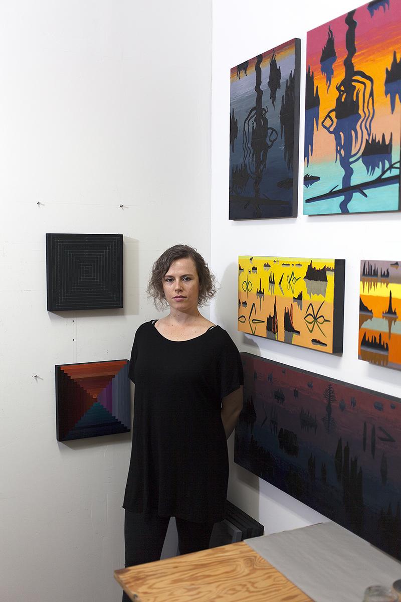 Caetlynn in her studio in Reservoir Art Space in Ridgewood, Queens.