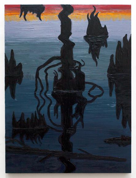 """Swamp Shimmer III,  2015  Oil on panel  24"""" x 18"""""""