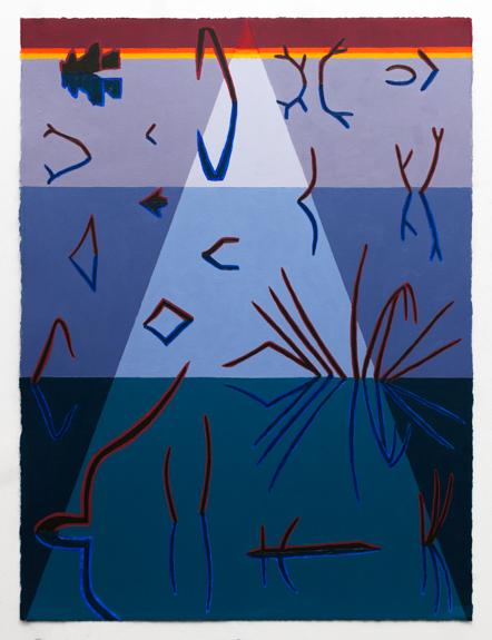 """Swamp Shimmer II,  2015  Oil on panel  24"""" x 18"""""""