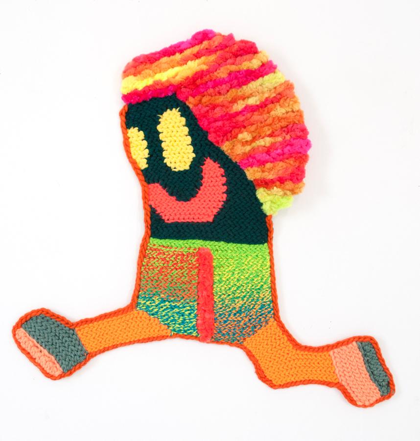 "Mary   Hand crocheted assorted fibers  24"" x 24""  2016"
