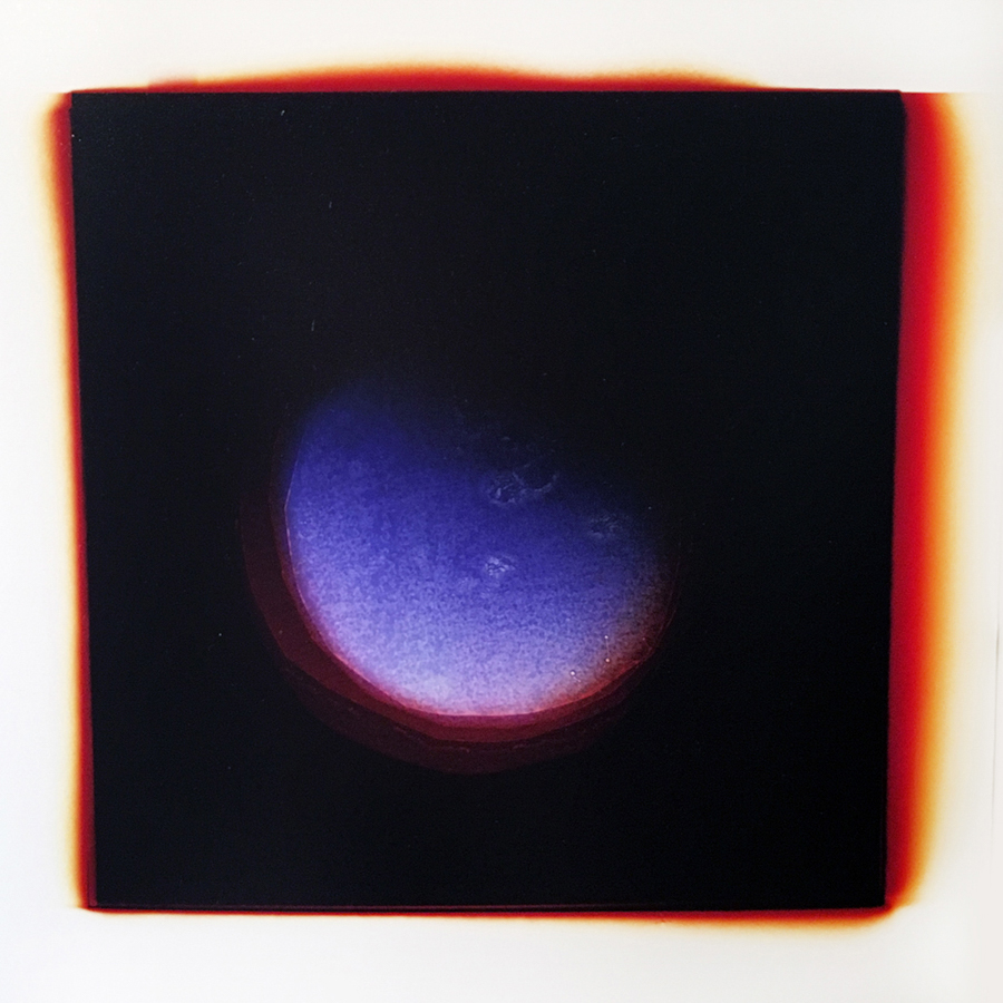 Blush Moon (Stella),  2015, Analog Chromogenic Photogram, 8 x 8""