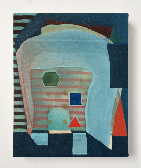 Untitled (Blue),  2015 Acrylic on Canvas over Panel 10 x 8 inches