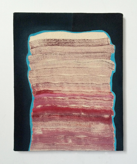 Untitled (Dark Space),  2015. Acrylic on Canvas over Panel 10 x 8 inches