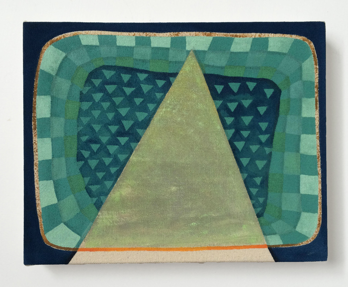 Untitled (Triangles),  2015. Acrylic on Canvas over Panel 10 x 8 inches
