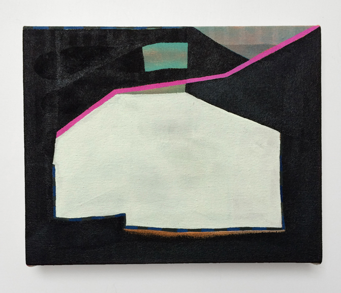 Untitled, 2015. Acrylic on Canvas over Panel 10 x 8 inches