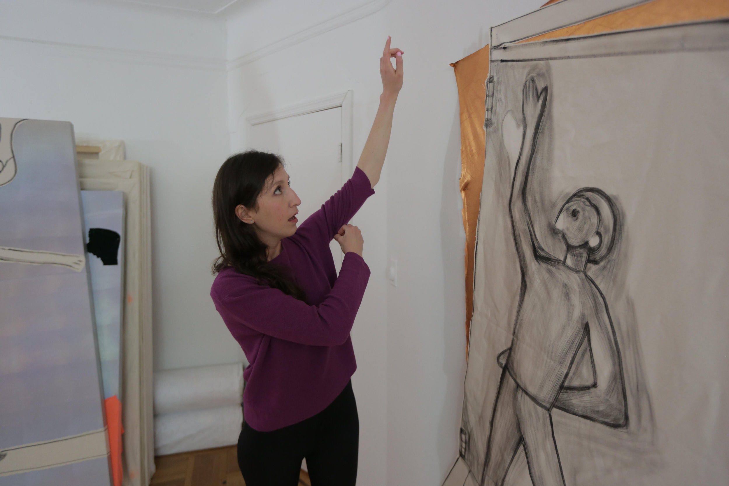 Jaqueline in her Brooklyn studio.