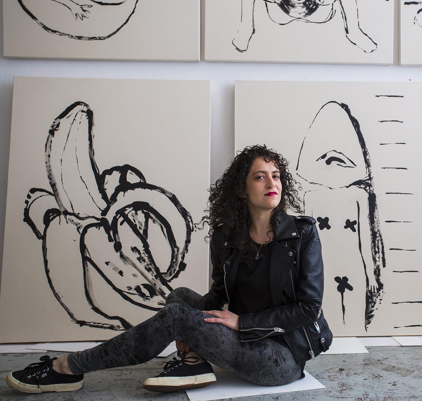 Allison in her Brooklyn studio.