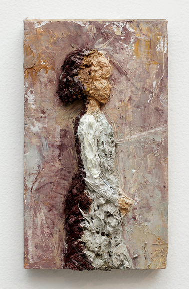 Girl in Court , 2017, Oil on Wood, 8 x 5.5 inch