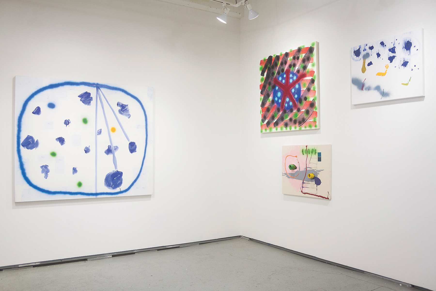 Installation view:  (I) Pine , Solo show by Rick Briggs,   curated collectively by OyG co-directors, 2017.