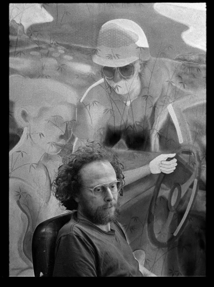 Max in his studio. Photo credit to Matthew Spiegelman