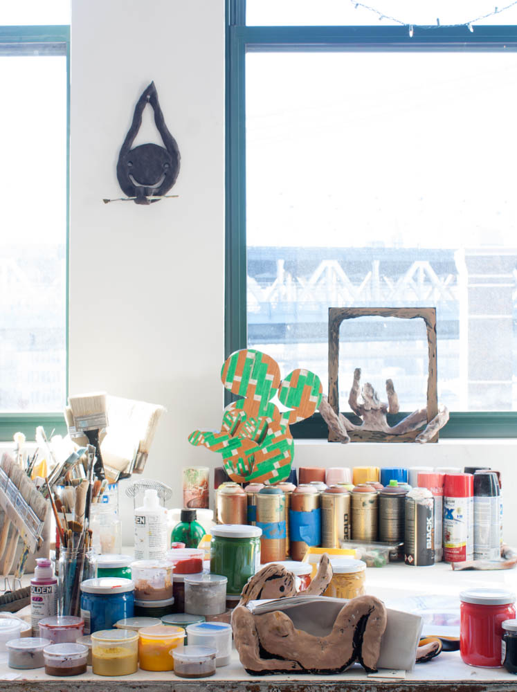 A shot of Bridget's studio at  The Sharpe-Walentas Studio Program  in Dumbo.