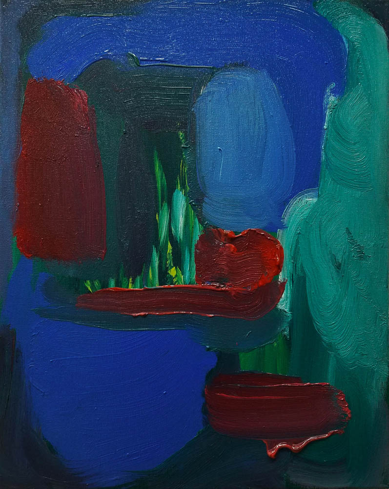 Madder Hatter , 2017, oil on canvas, 20×16 inches