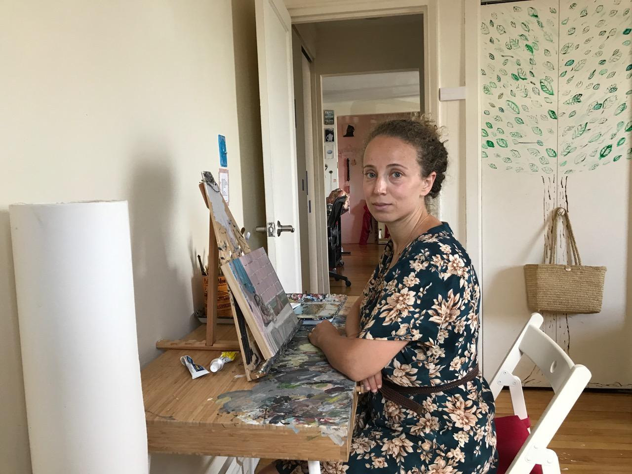 Polina in her studio