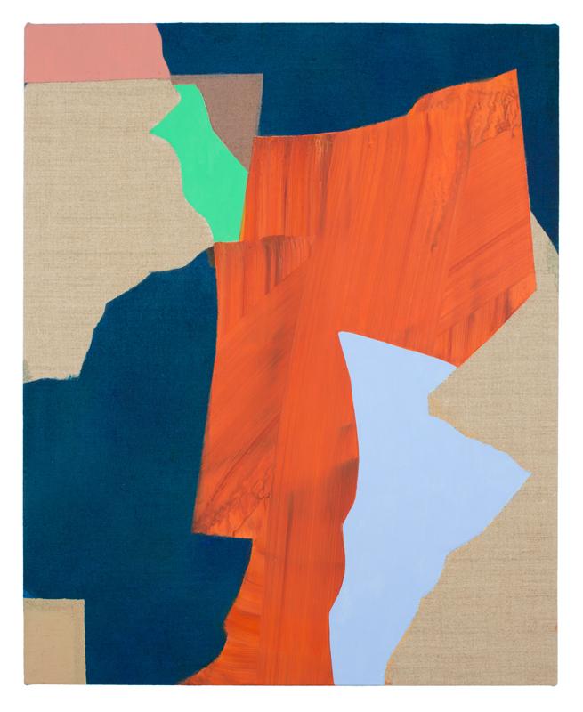 """Orphan  2016 Acrylic on linen 20"""" x 16"""""""