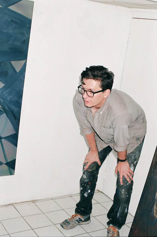 Clinton at work in his studio.
