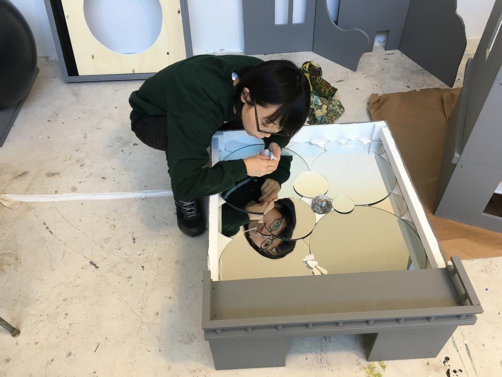 Gaku working in the studio