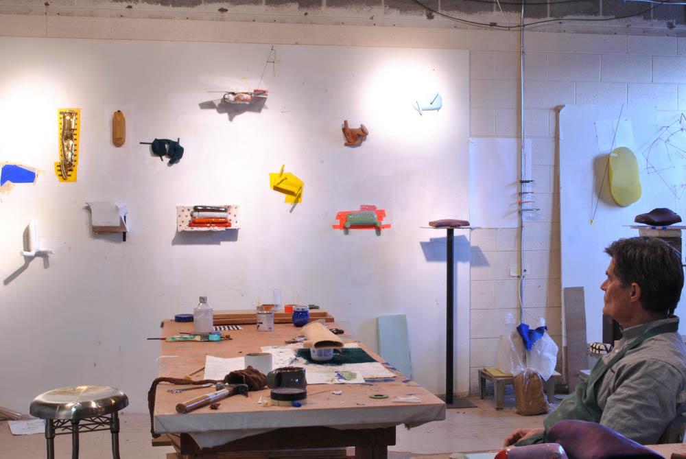 Jim Shrosbree in his home studio.