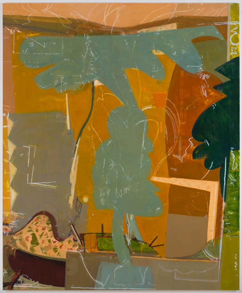 desert interior , 2014 oil on linen 84 x 70 in