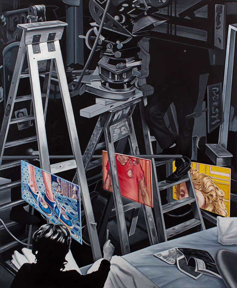 Schüfftan Bones , 2017. Oil on canvas, 72 x 60 inches
