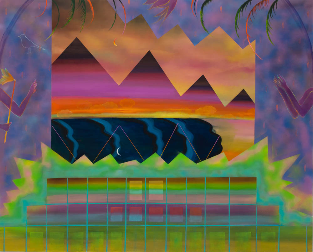 By Dawns Early Light  2016 Oil and Spray on canvas 160x200 cm 63x79inches