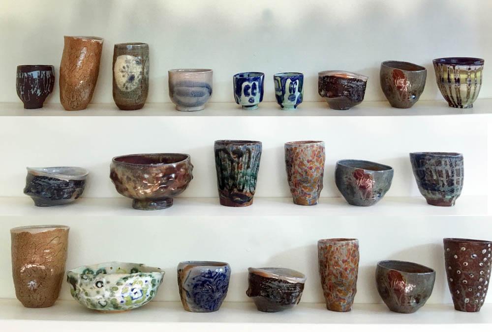 Photo of Zuzka's vessels on display.