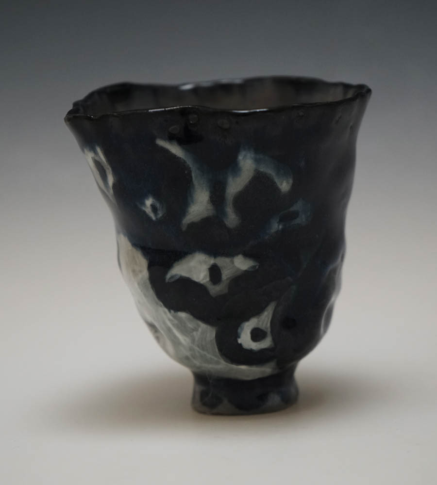 """Further , 2017, electric fired black porcelain, 4.5"""" x 3"""""""