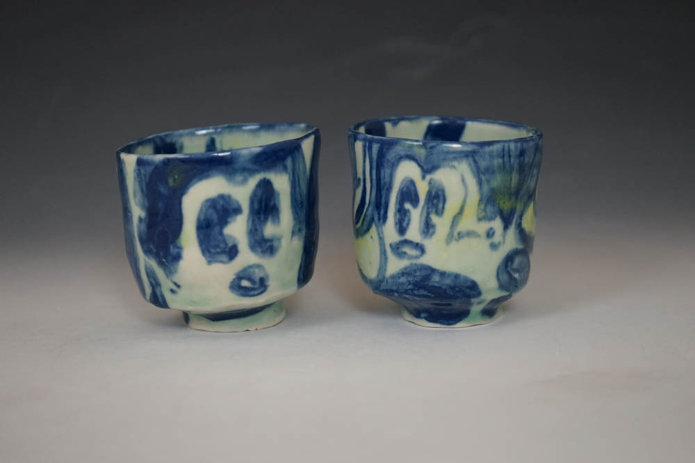 """Mickies , 2017, electric fired porcelain, approx.. 2 x 2.5"""""""