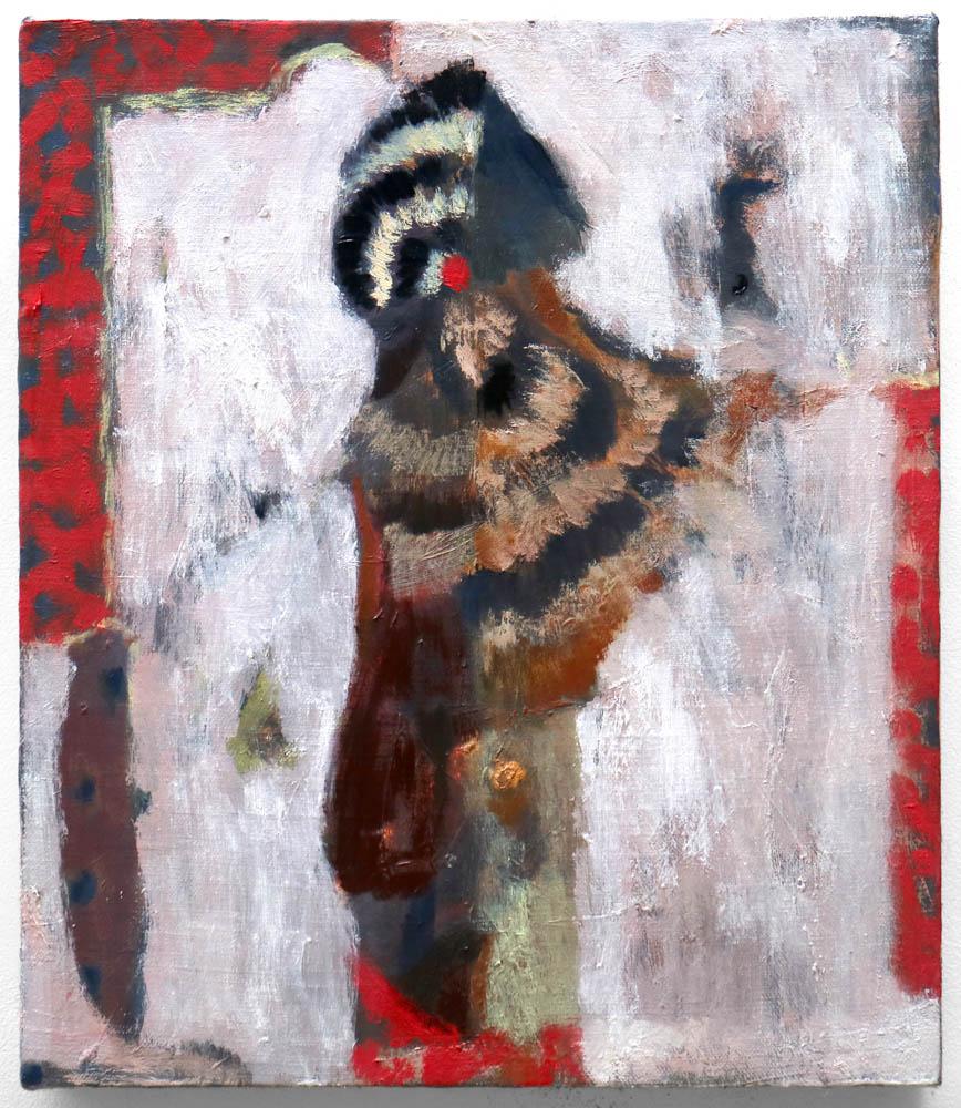 moth , 2017, oil on linen, 14x12