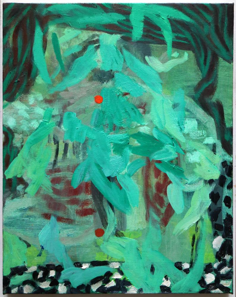 pupil , 2017, oil on linen, 14x11