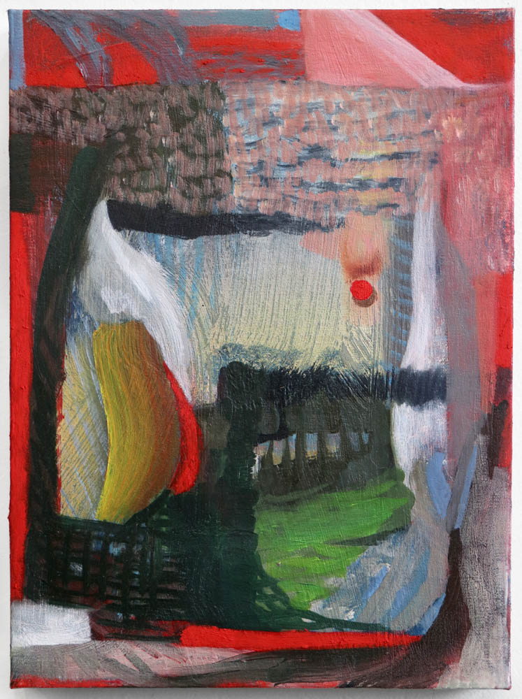 red hope , 2016, oil on linen, 12x9