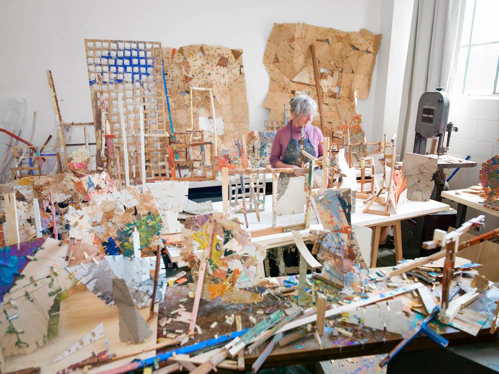 Helen at work in her studio.