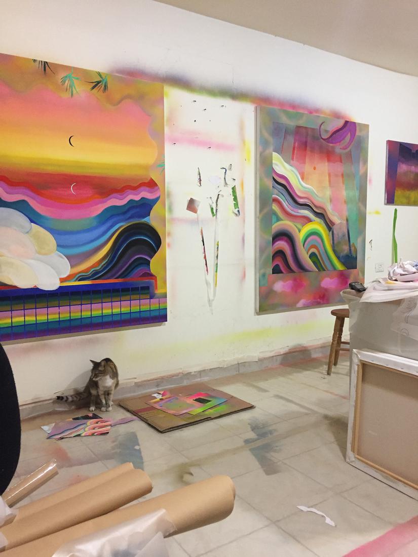 Works in progress at Sharona's studio
