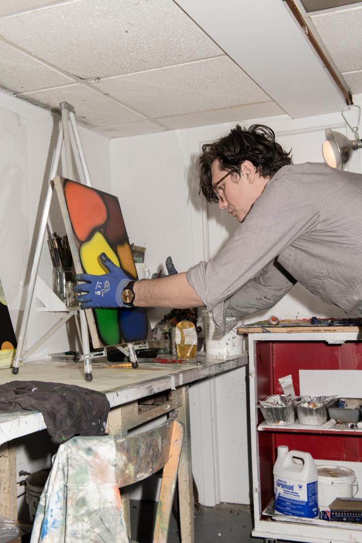 Clinton working in his studio. Photo by Dan McMahon.
