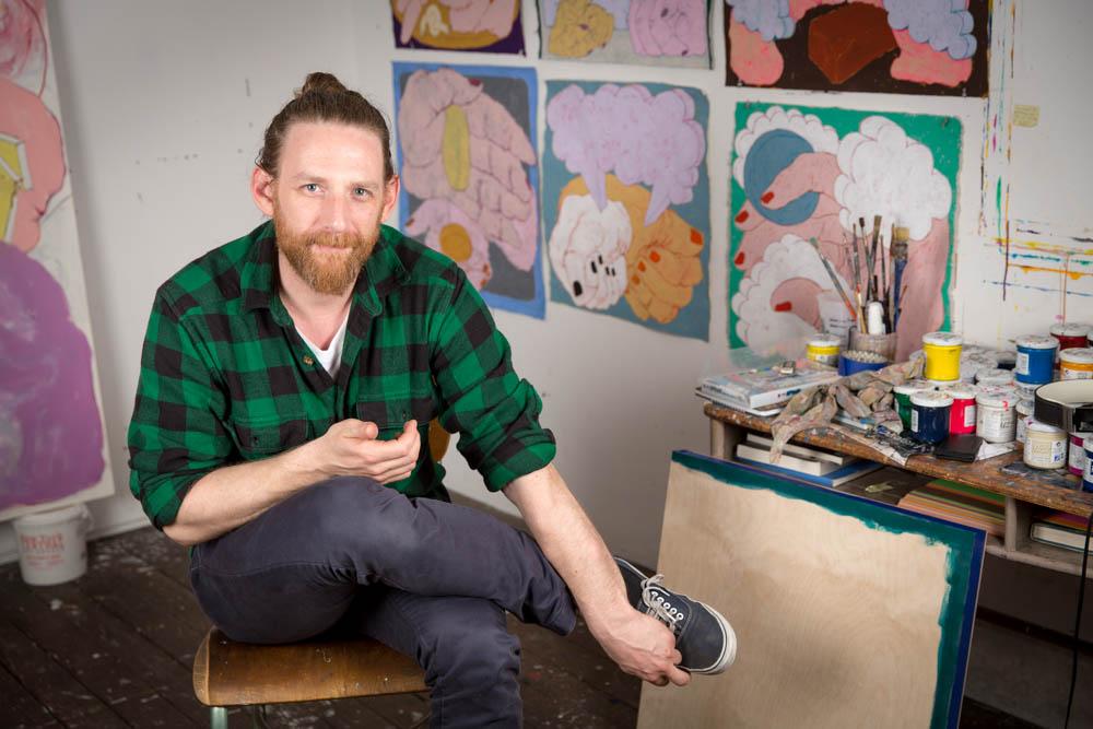 Austin in his studio.