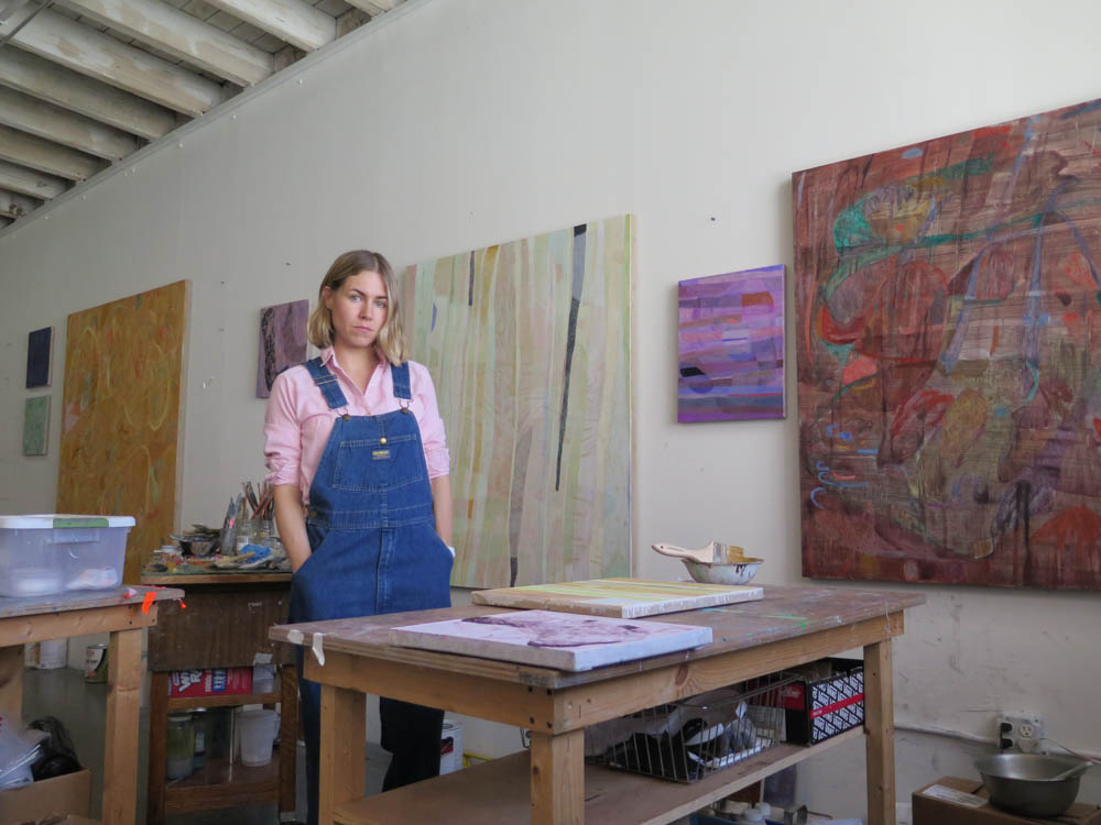 Clare at work in her studio.