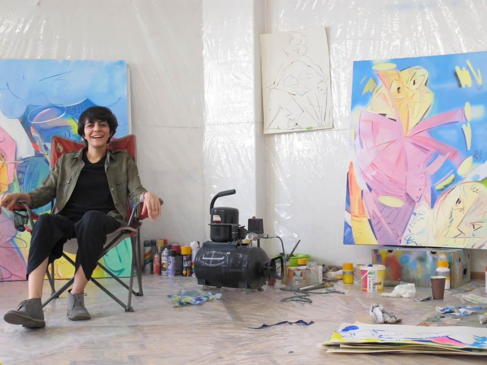 Hoda in her studio.